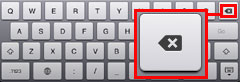 iPad2 URLを修正 バックスペースで消去