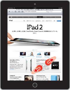 iPad2 ダブルタップで拡大